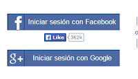 iniciar tagged con facebook o google plus