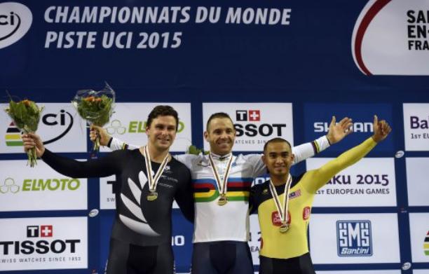 Azizulhasni Raih Gangsa Keirin Trek Dunia UCI 2015