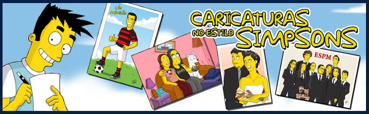 Caricaturas no estilo Simpsons!