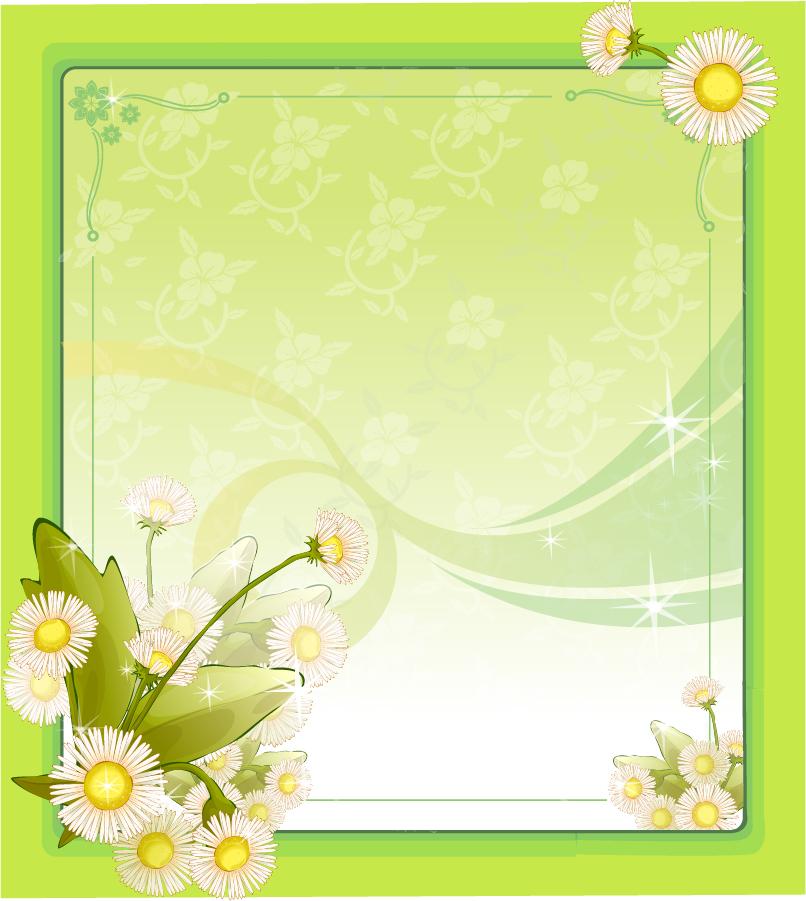 花ビラを背景にした台紙テンプレート decorative drawing flower frame イラスト素材