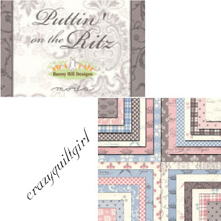 Moda PUTTIN' ON THE RITZ Quilt Fabric by Bunny Hill Designs