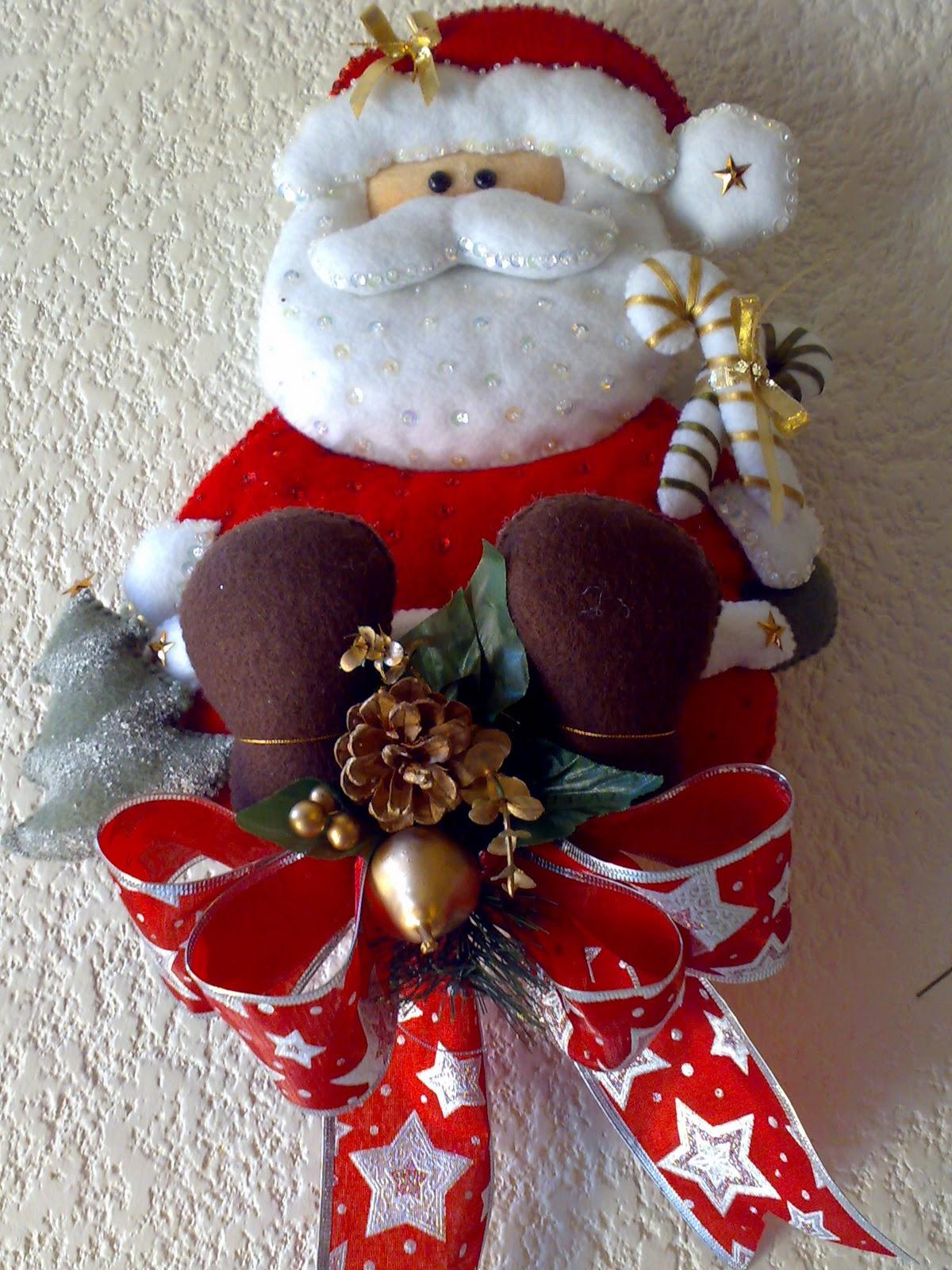 Juegos De Baño De Santa Claus En Fieltro: LUZMA: Santa Claus de fieltro; Medidas:42 cm de alto x 28 cm de ancho