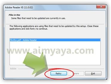 Gambar: Konfirmasi penutupan aplikasi adobe reader yang sedang berjalan