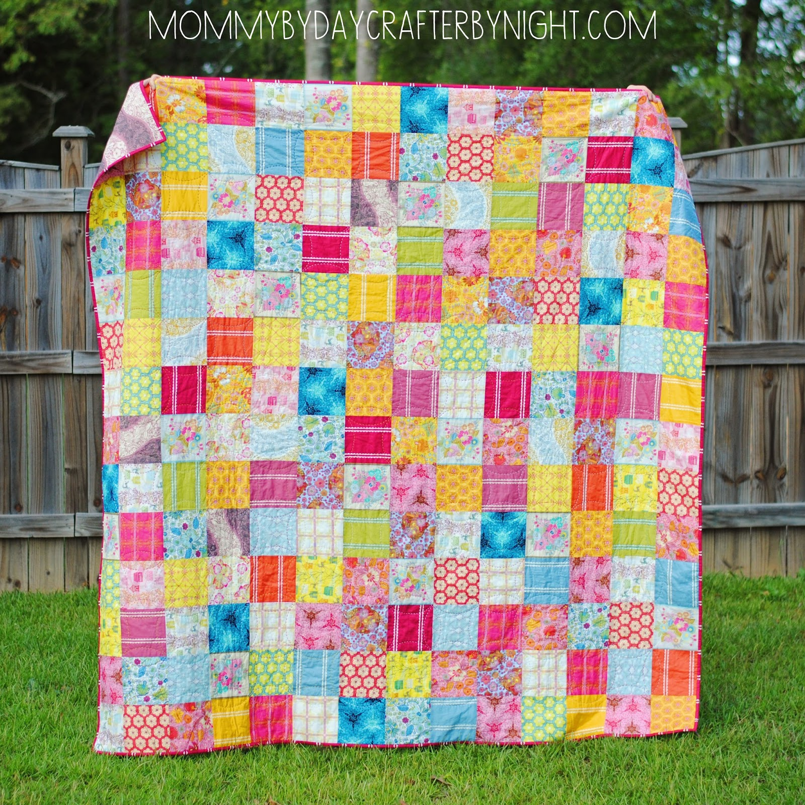 Mommy by day Crafter by night: AMH Little Folks Voile Quilt : square patchwork quilt - Adamdwight.com