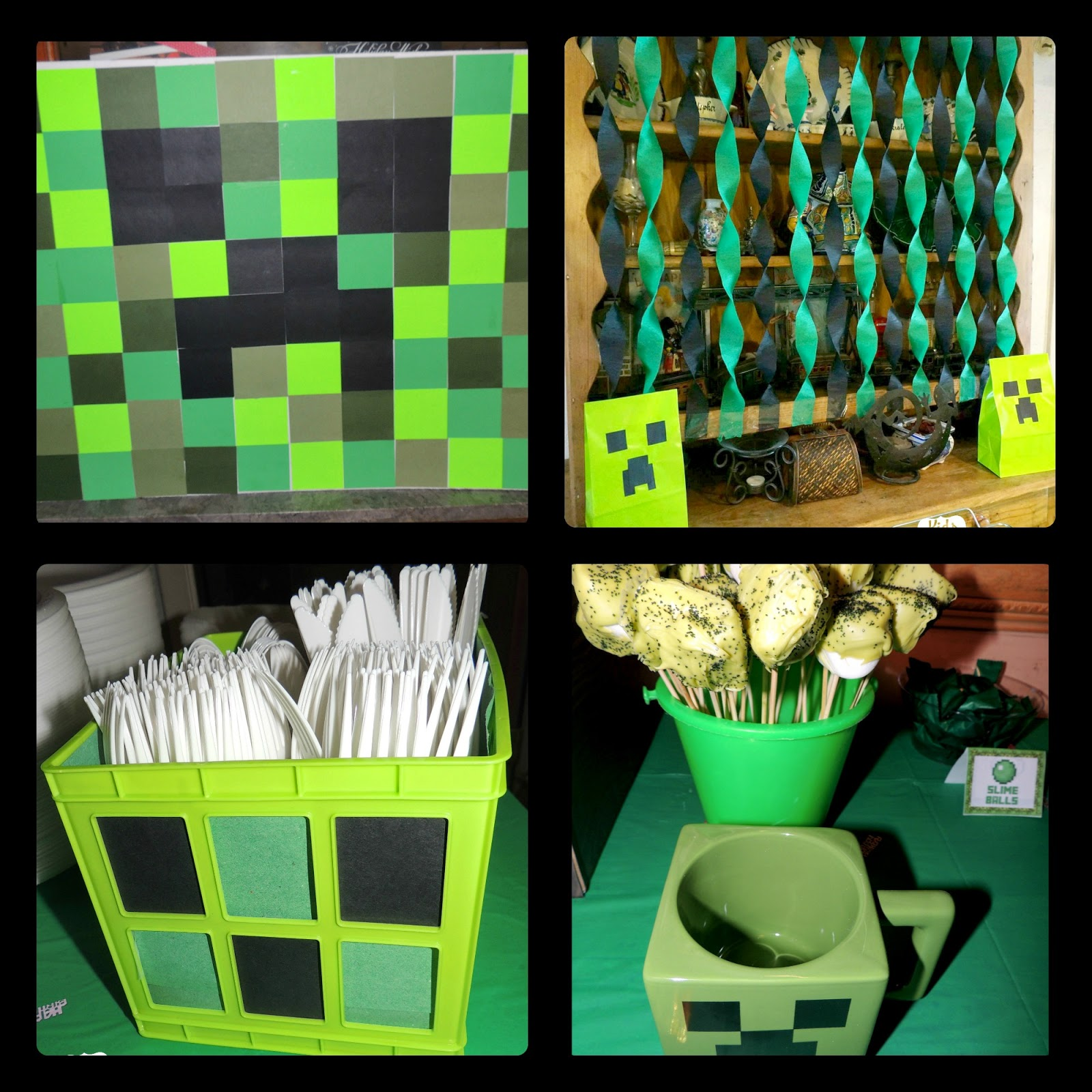 kids and deals a minecraft birthday party. Black Bedroom Furniture Sets. Home Design Ideas