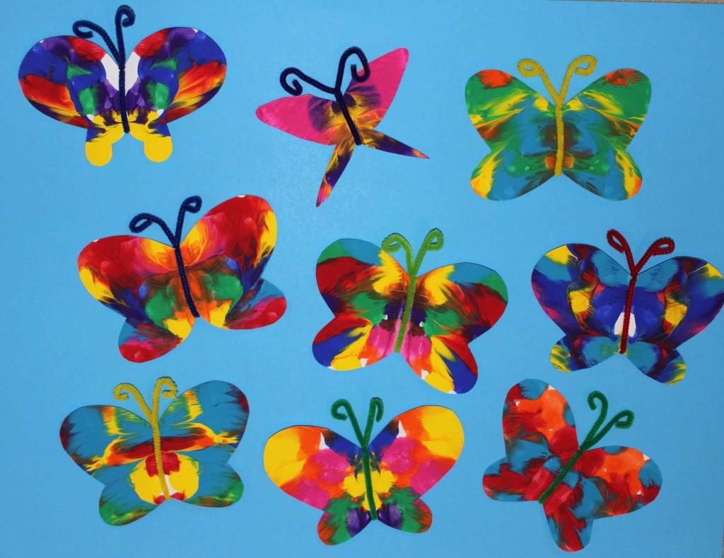 heartofthematteronline   symmetrical painted butterfly craft