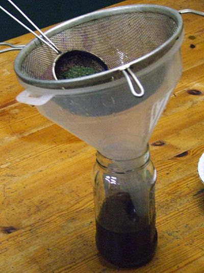 Strained Stevia infusion