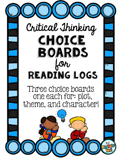 https://www.teacherspayteachers.com/Product/Reading-Homework-Choice-Boards-Common-Core-Critical-Thinking-2078685