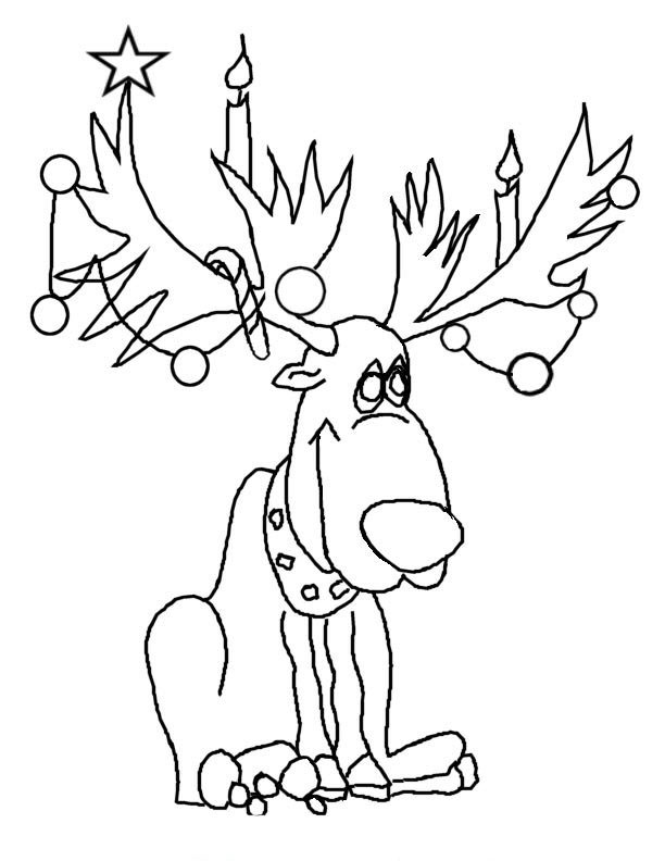 Reindeer coloring pages best coloring pages collections for Christmas reindeer printable coloring pages
