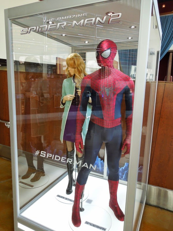 Amazing Spider-man 2 film costume exhibit