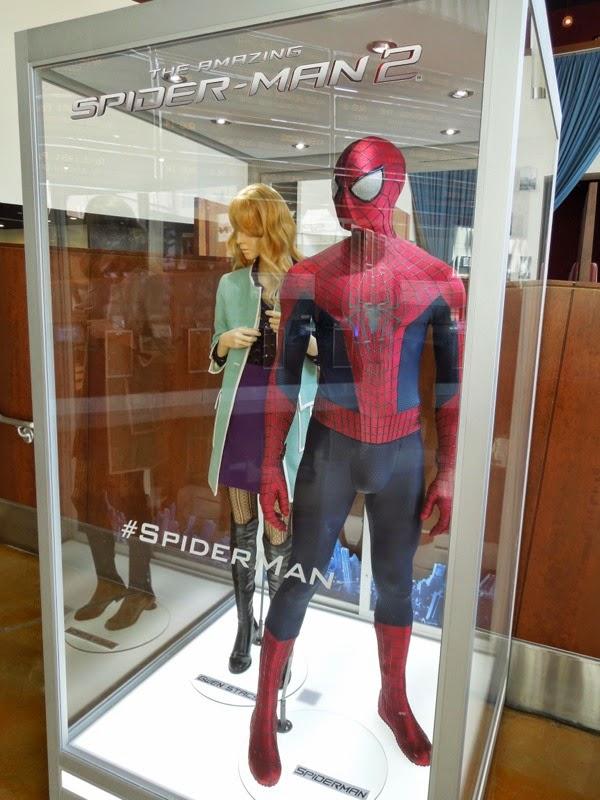 Amazing Spider-man 2 film costume exhibit