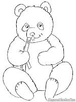 Mewarnai Gambar Anak Panda Yang Lucu Sedang Makan