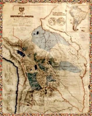 Mapa antiguo de Bolivia, antes de ser robada, maltratada, y separada