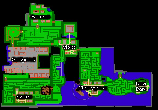 Ot Pokemon: Mapa do novo continente jotho