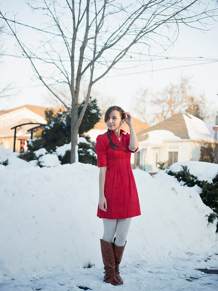 red-dress-winter