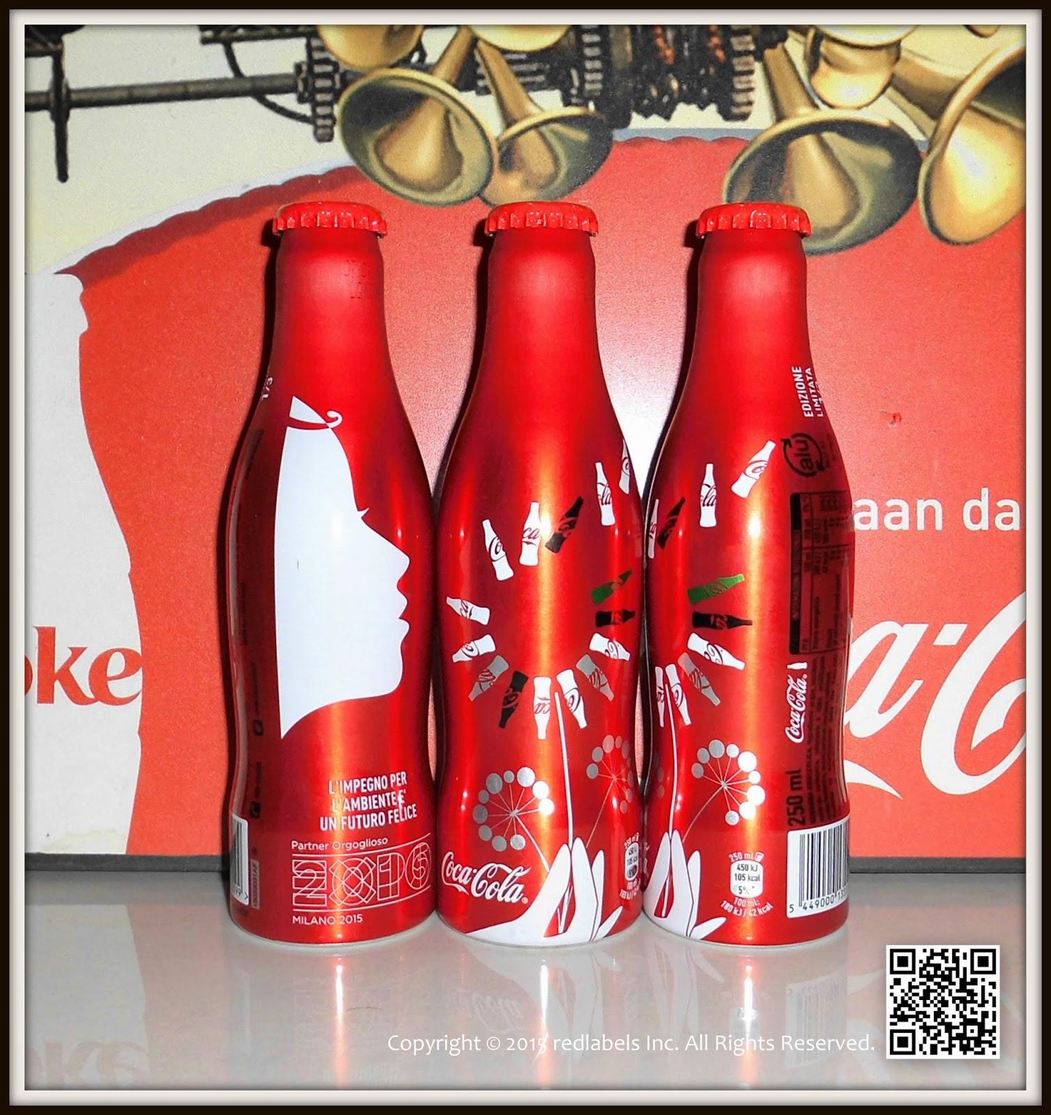 aluminum bottle collector club coca cola expo milano aluminum bottles italy 2015. Black Bedroom Furniture Sets. Home Design Ideas
