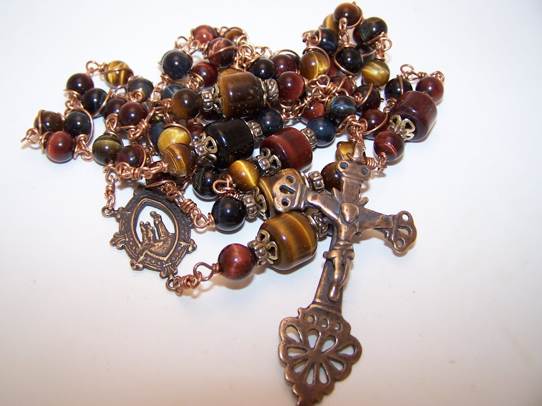 No. 119.  Rosary Of Our Lady Of Salette- NEWLY LISTED! Using multiple colors of Tiger Eye