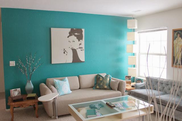 decoracao de sala azul turquesa e amarelo:Turquesa – by Tiffany! – Decor Salteado – Blog de Decoração e