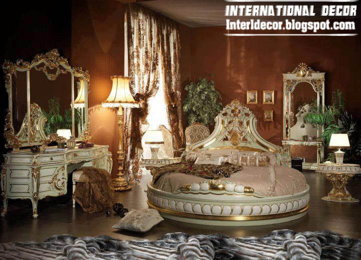 Royal bedroom 2013 luxury interior design furniture for Round bed interior design