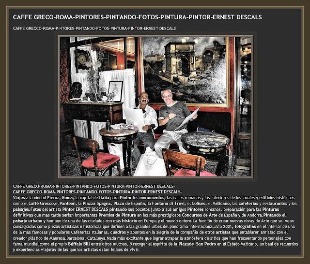 ROMA-CAFFE CRECO-PINTORES-PINTANDO-CAFETERIAS-PINTOR-ERNEST DESCALS