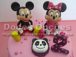bolos aniversário mickey minnie disney