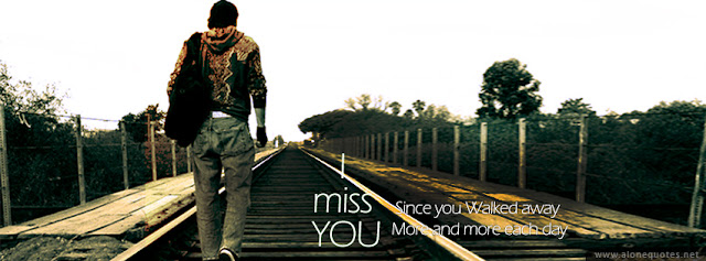 facebook cover photo-alone emo boy walking on rail way