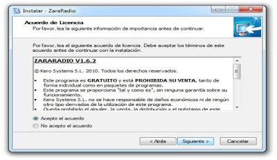 Instalar Zara Radio