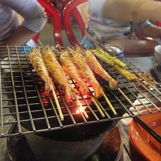 vietnam, otcb on tour, food, bbq, shrimp