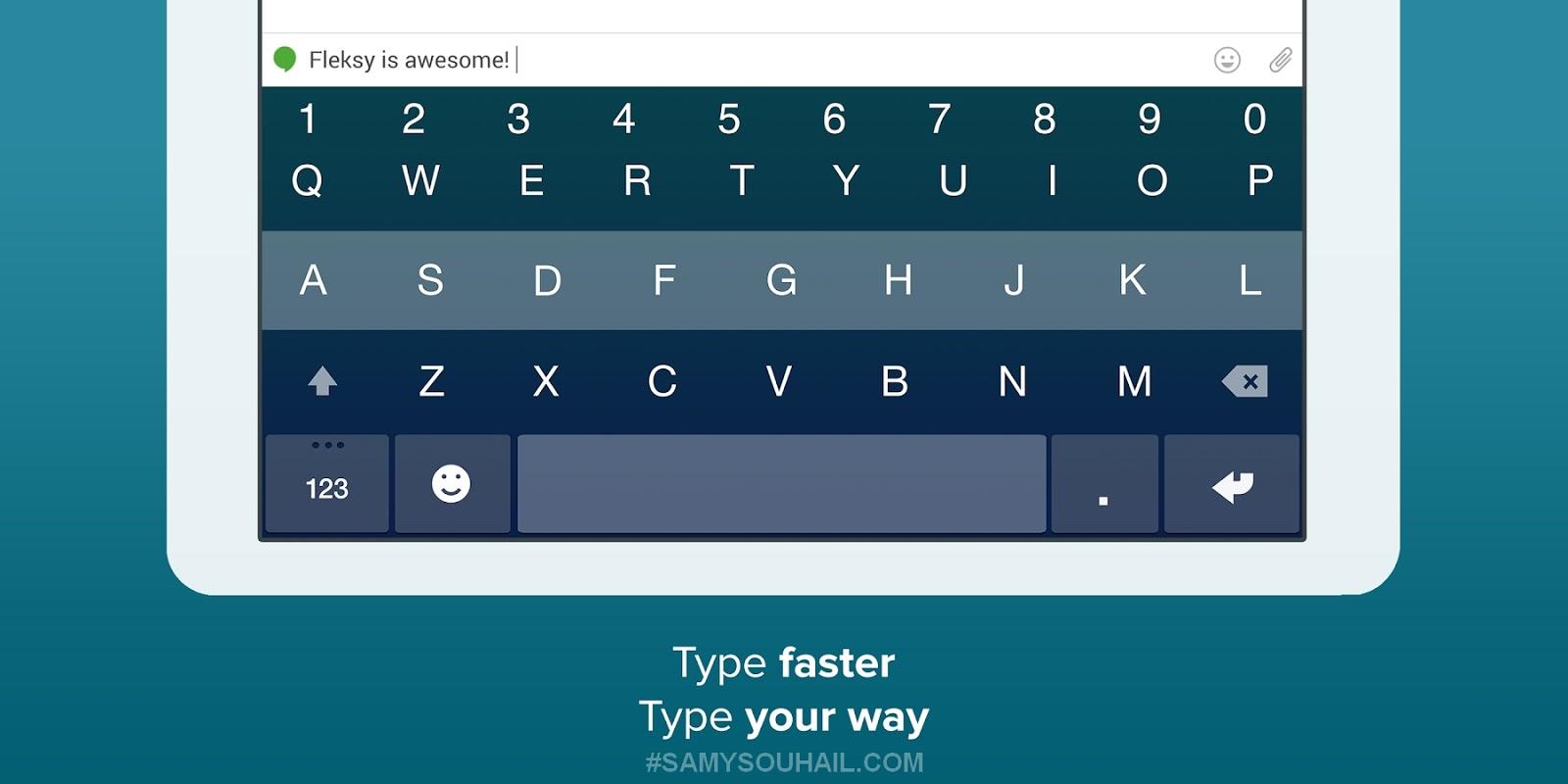 تطبيق Fleksy Keyboard يمكنك من الكتابة بسرعة على كيبورد هاتف الأندرويد