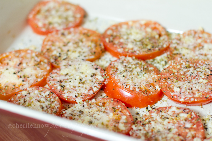 tinkerwiththis: Delicious Sides: parmesan baked tomatoes