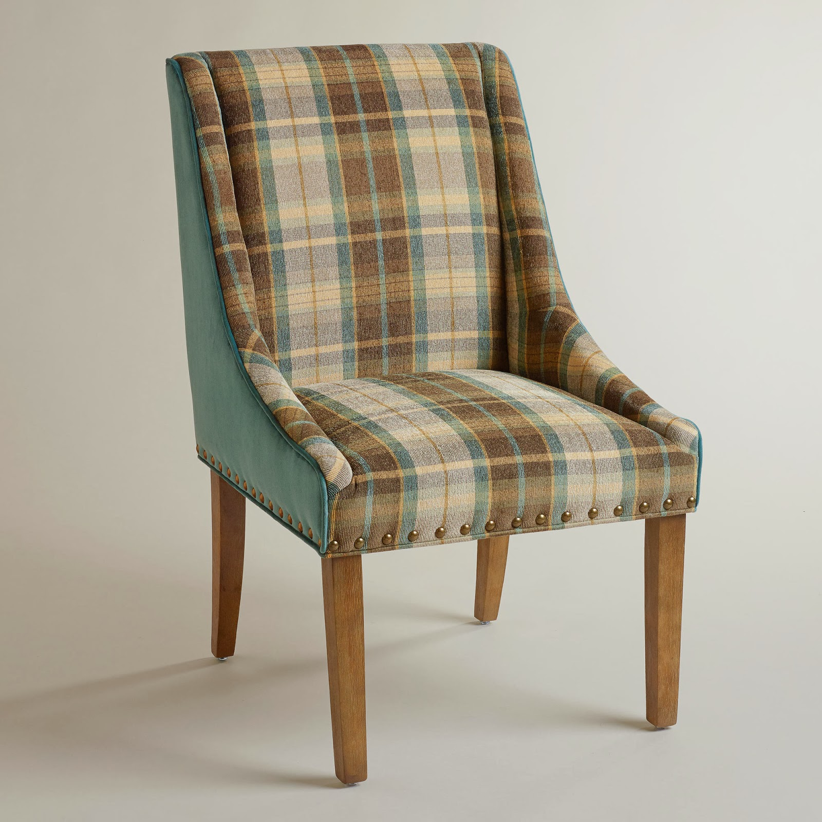 World Market Red Leather Chair: Retropolitan: Plaid Is Rad!?