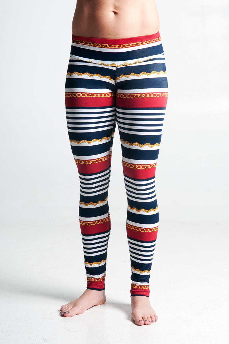 Style Athletics Zweet Sport The Tallin Legging Nautical