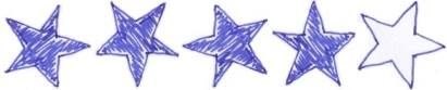 vier Sterne Bewertung Rezension