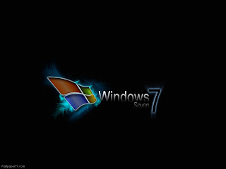 Windows 7 Rich Black Wallpaper in 1024x768
