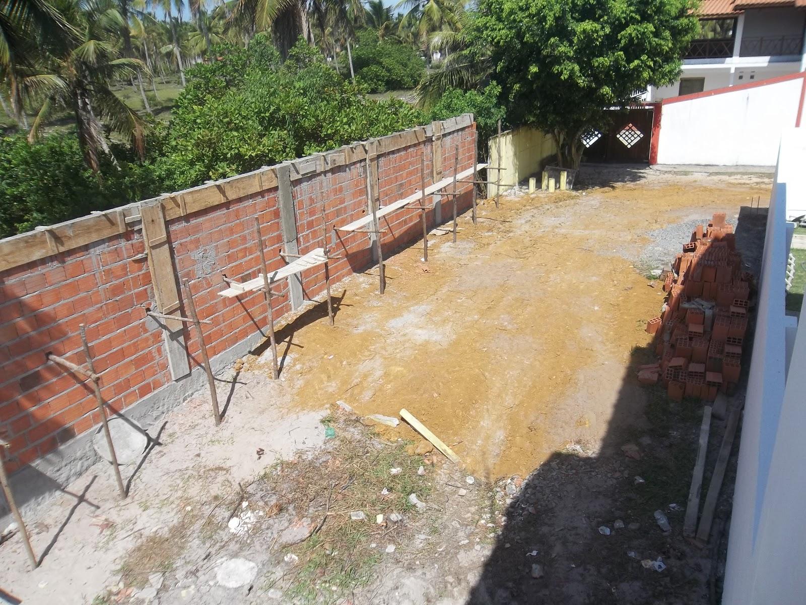 Vendo casa Praia de Guaibim Ba: CONSTRUÇÃO DO MURO #8F6E3C 1600 1200