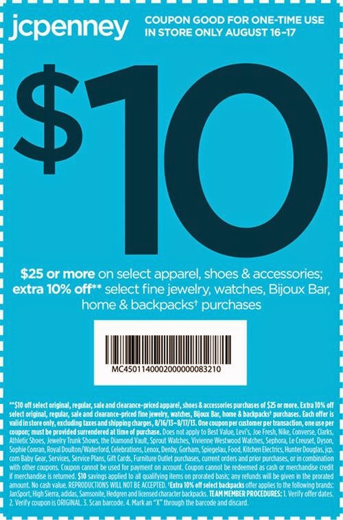 Jcpenney online coupons january 2018