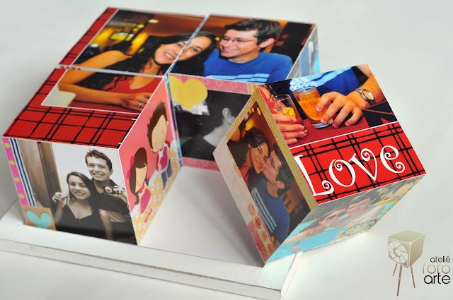 Cubo com fotografias