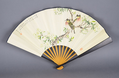 traditional chinese fans. in the history, fans made china were sold to japan and european american countries, where chinese exerted certain influences on local traditional