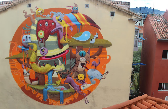 Dulk recently spent some time on the streets of Santander in Spain where he was invited to work on a new piece by the good lads from Desvelarte