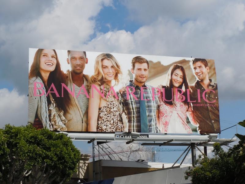 Banana Republic Journey in Style models billboard