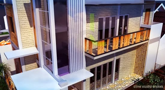 desain rumah rustic