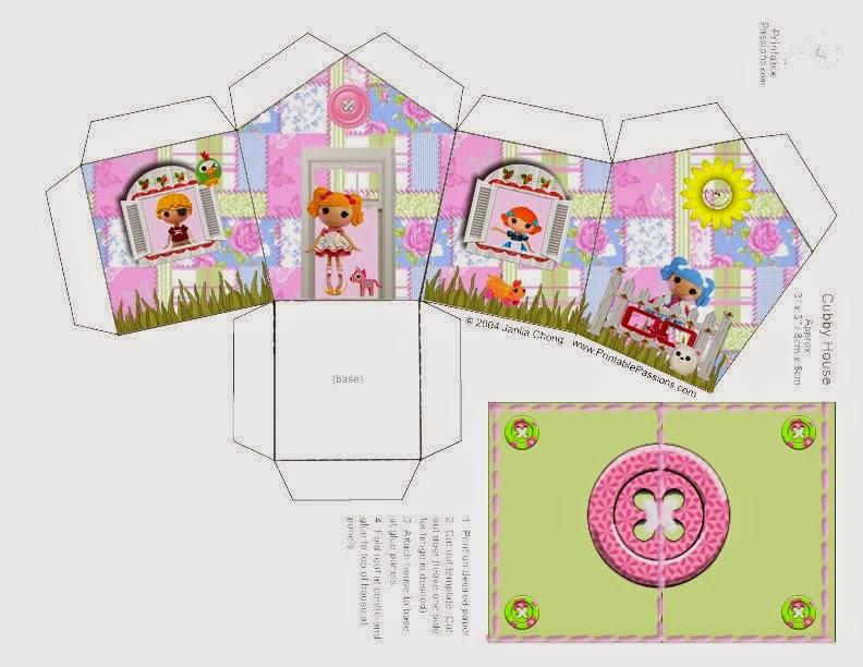 Lalaloopsy de Colores: Caja con Forma de Casa para Imprimir Gratis.