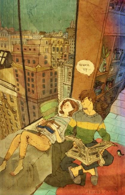 illustration couple amoureux manga