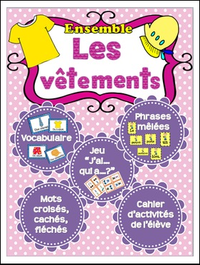https://www.teacherspayteachers.com/Product/Les-vetements-ensemble-French-clothing-bundle-1738893
