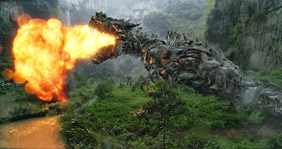 Image of a Dinobot in Transformers Age of Extinction