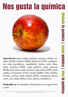 Ingredientes manzana. Quimiofobia