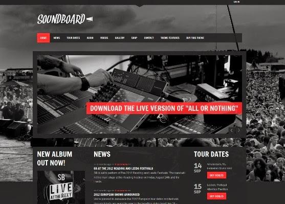 Soundboard -  Music WordPress Theme