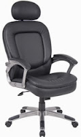 B7101 Boss Office Chair with Silver Frame
