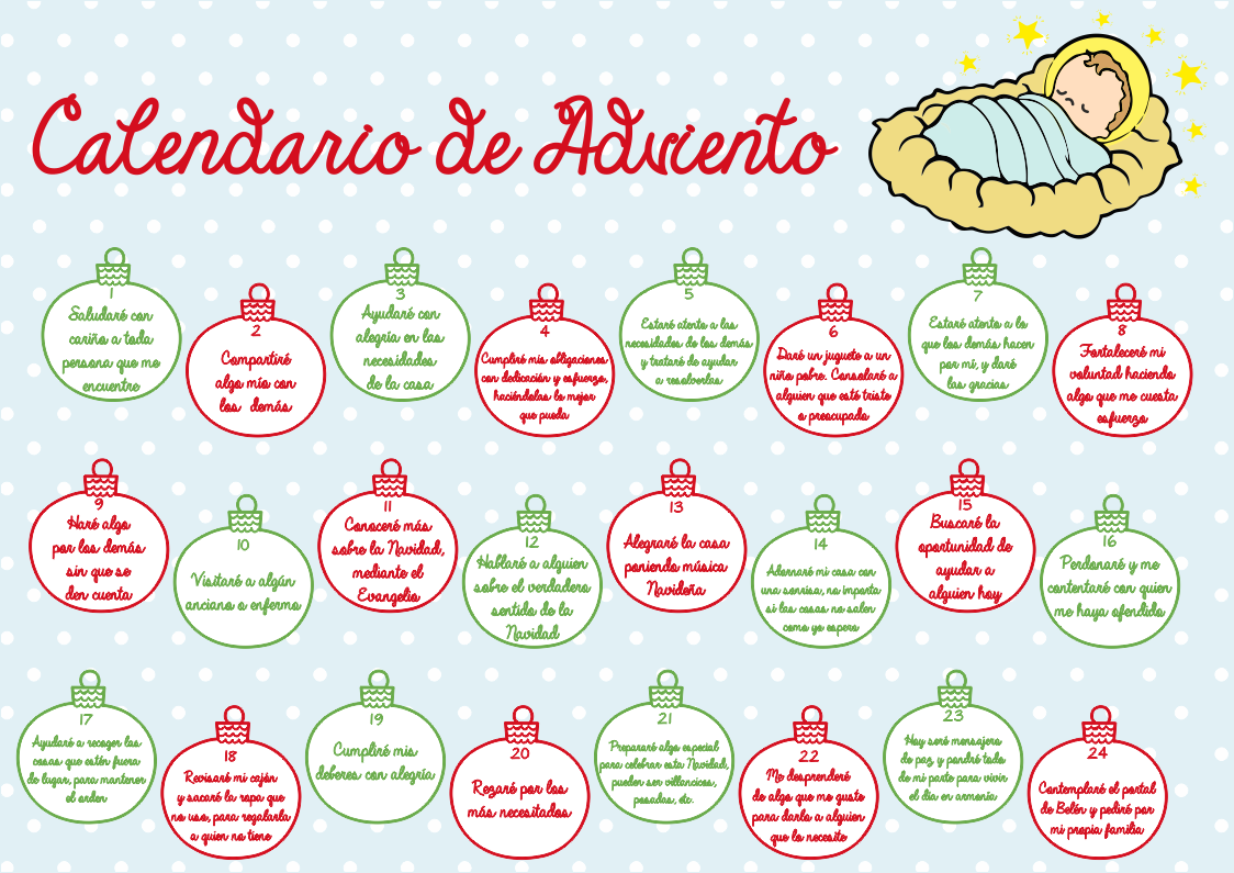 Calendario de Adviento Imprimible Gratuíto. - Handbox Craft Lovers ...