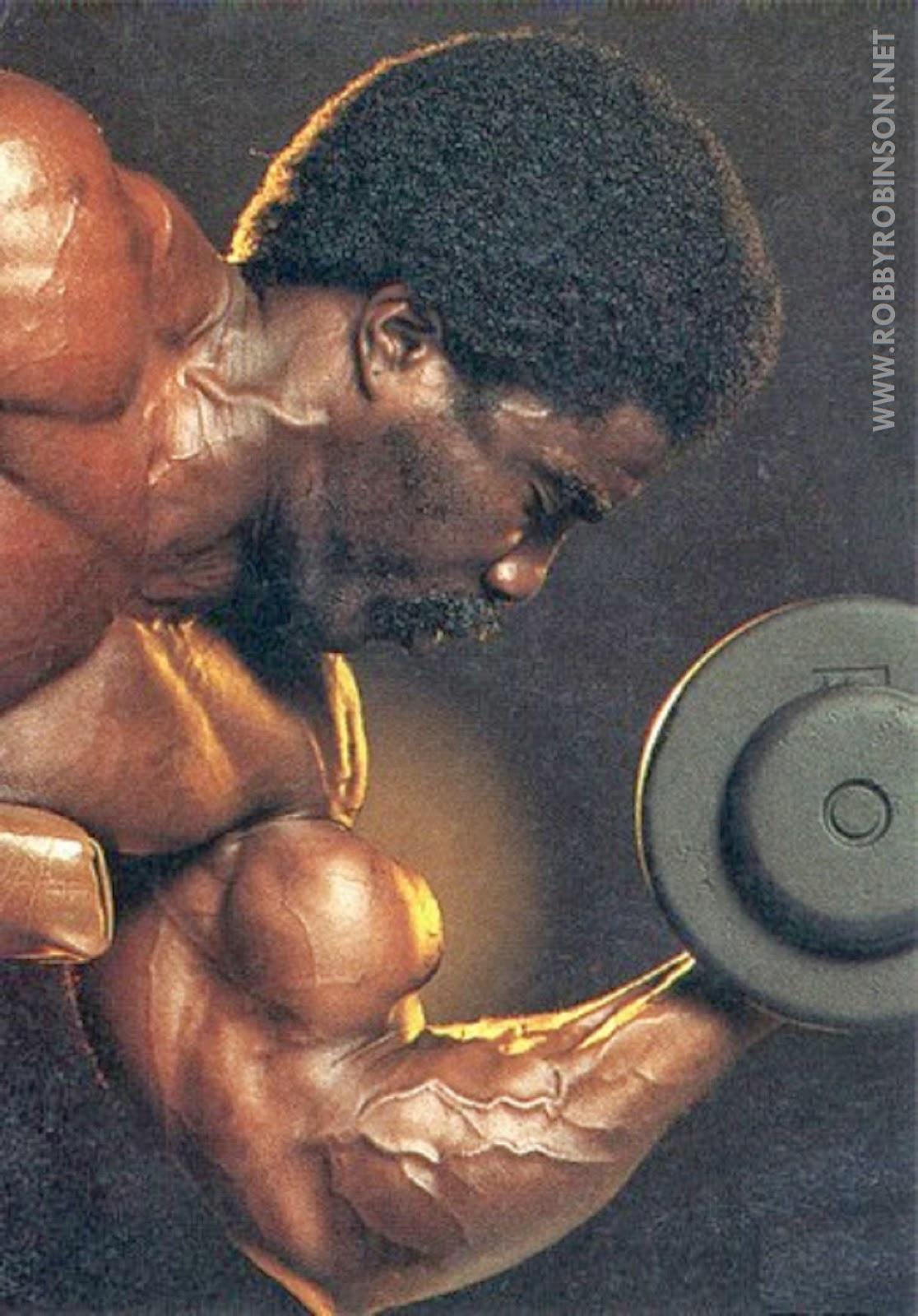 Robby Robinson - Dumbbell Biceps Curls  ● www.robbyrobinson.net/dvd_built.php ●